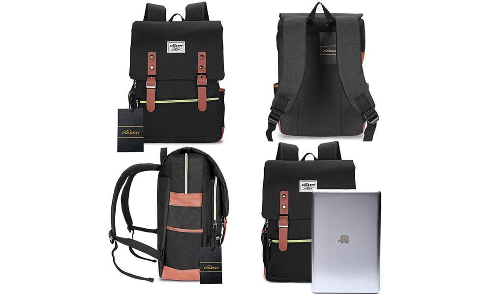 Puersit Vintage Laptop Backpack